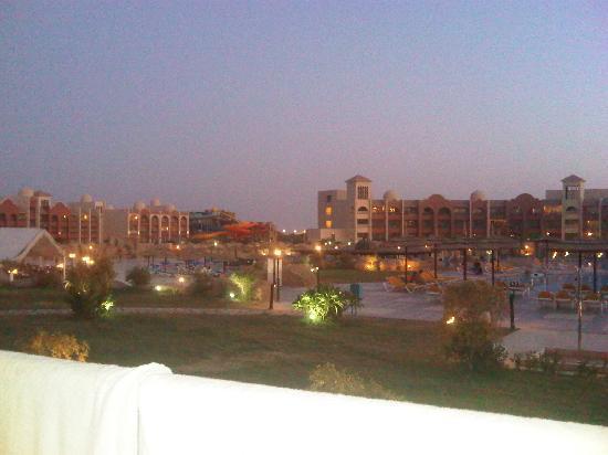 Tirana Aqua Park Resort: view at twilight / waterpark in the background