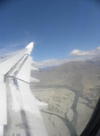 Lhasa, China: Above the Tibetan plateau