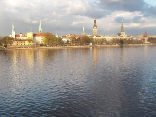 Old City Riga (Vecriga): Riga - center view from the river