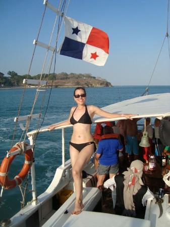 Farallón (Playa Blanca), Panamá: En el Barco rumbero alrededor de Costa Blanca, Panama, Marzo 2010