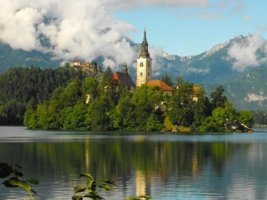 Bled Island: The church on Slovenia's only island(!), Bled castle and the Karavanke mountains