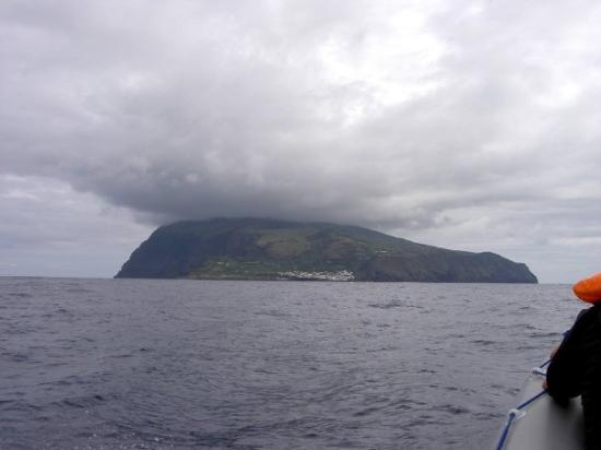 On the way to the tiny island of Corvo, the smallest of the islands. If this is not the end of t