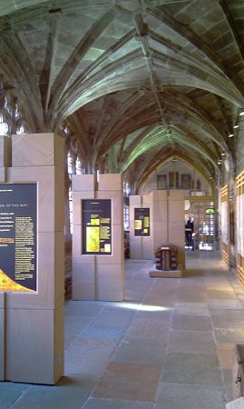 ‪Mappa Mundi & Chained Library Exhibitions‬