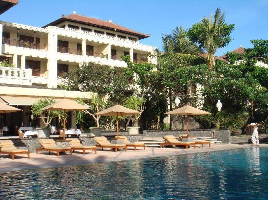 The Legian Bali: The Legian from the beach