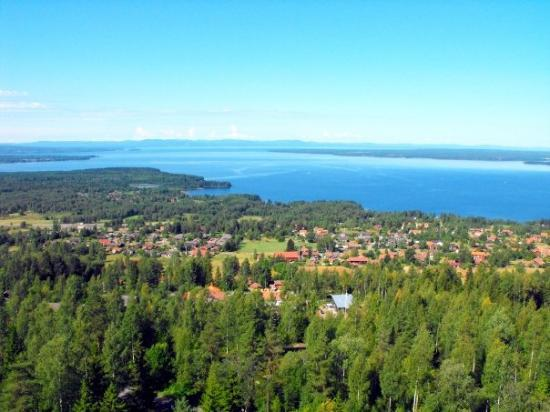 Rattvik, Szwecja: View of Lake Siljan, central Sweden, from Rättvik