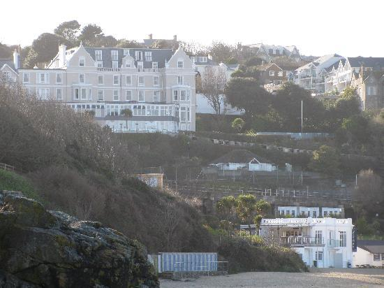 The beautiful porthminster beach with the hotel above for 27 the terrace st ives reviews