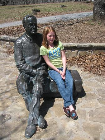 Warm Springs, Géorgie : FDR Statue at Dowdell's Knob