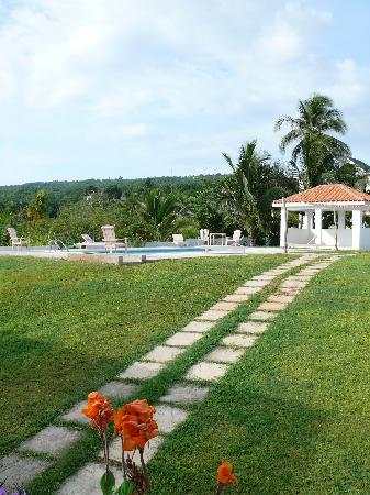 Villa Cocotero : tranquil pool with sea view....