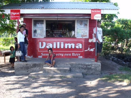 Apia, Samoa: the 'Corner' shop where you can buy beer...
