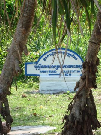 Police station in Koh Tonsay (Rabbit Island) near Kep, Cambodia