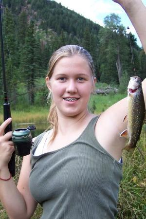 Carbondale, CO: Rachel with a nice brooky up Alavanche creek at the beaver ponds.