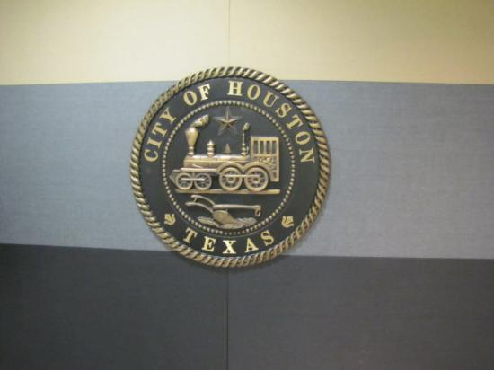 Houston, TX, United States City Seal in the tunnels