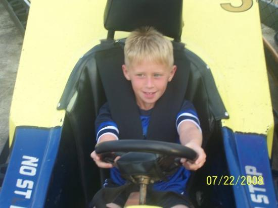 Midway Speedway Park : My baby riding go carts