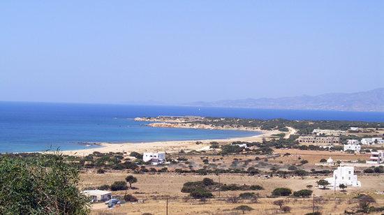 Faros Villa: Panorama di Mikri Vigla Beach dalla camera