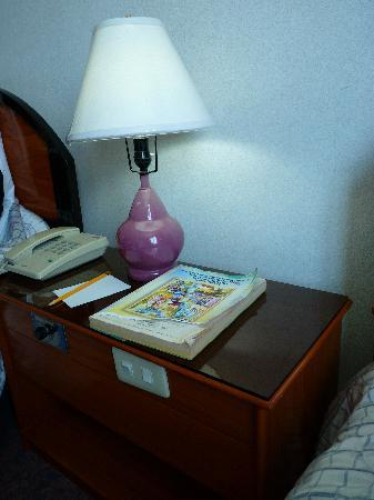 Holiday Plaza Hotel: bedside table