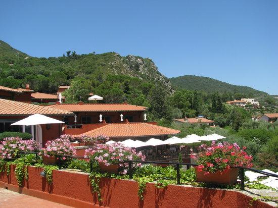 Porto Ercole, Ιταλία: vista dell'hotel dalla stanza