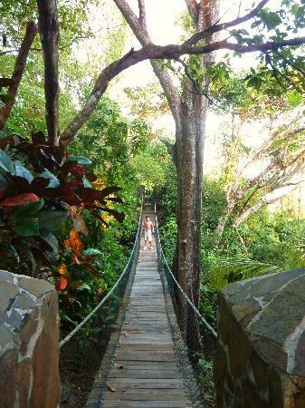 Tango Mar Beachfront Boutique Hotel & Villas: pont suspendu
