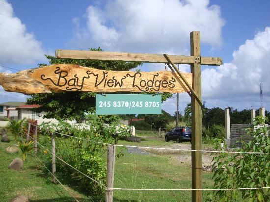 Bay View Lodges: Sign!