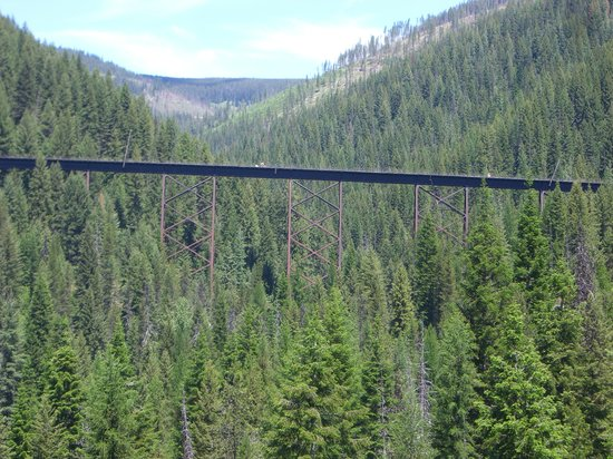 Idaho: Trestle on the Route of the Hiawatha