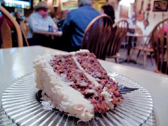 Island Park, ID: Carrot Cake served at Boondocks Restaurant
