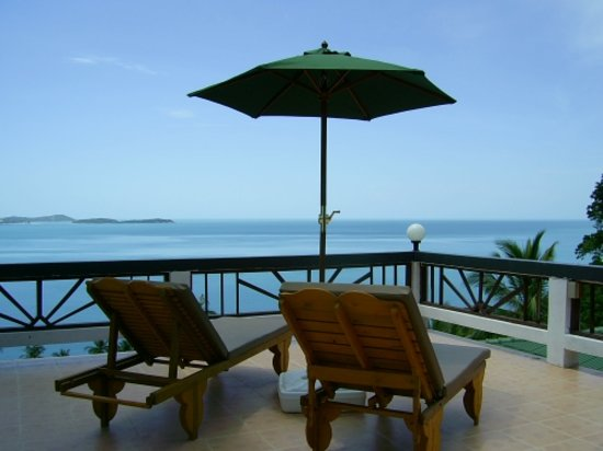 Ban Sua Samui : View fromm a roofterrace to chaweng