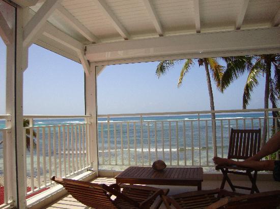 Coco Beach Resort: vue depuis la terrasse (n°203)