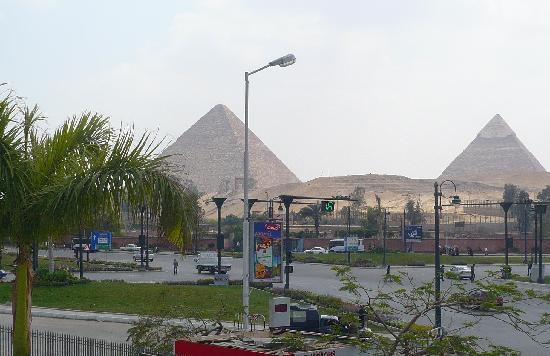 Mercure Cairo Le Sphinx: Vista desde el mirador del hotel