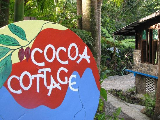Cocoa Cottages: sign