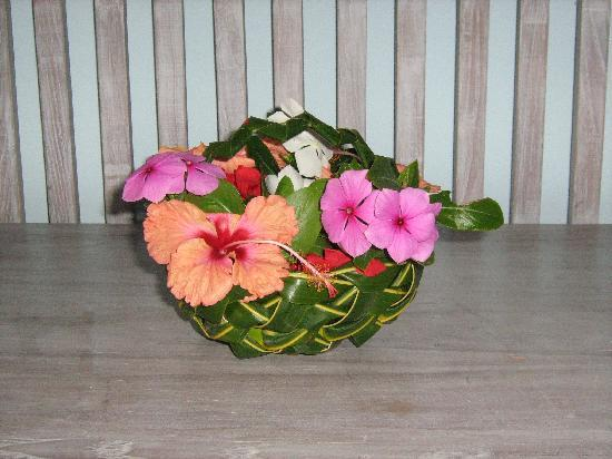 Melia Cayo Coco: Woven palm basket made by one of the gardeners