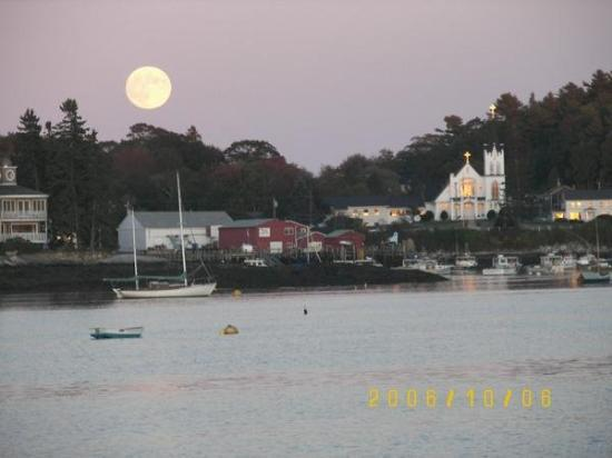 Boothbay Harbor, ME: Sun and Moon ~ Booth Bay, Maine