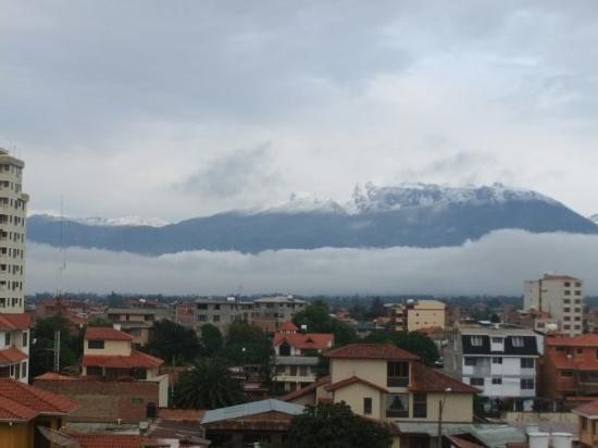 Cochabamba, Bolivia: One morning I awoke to find the surrounding mountains like...