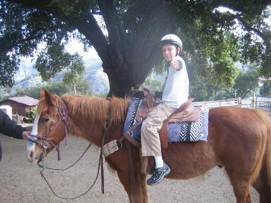 Rancho Oso RV & Camping Resort: First horse back ride