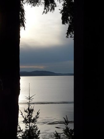 Oyster Bar on Chuckanut Drive: View from my seat within The Oyster Bar.
