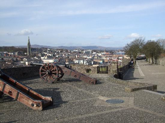 Amore Bed & Breakfast: View of Derry from the walls