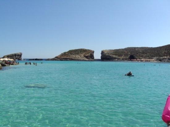 San Ġiljan, Malta: Den blå lagune. Gozo, Malta