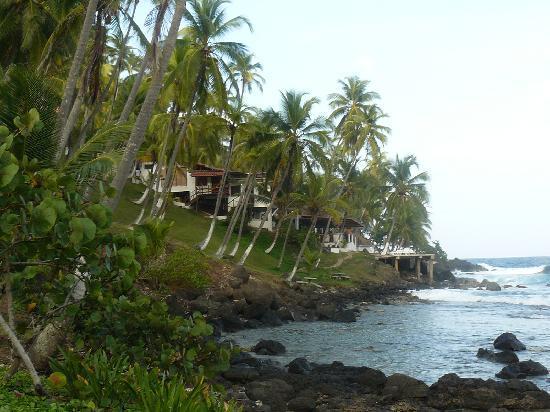 Isla Grande, Panamá: vista del hotel ...