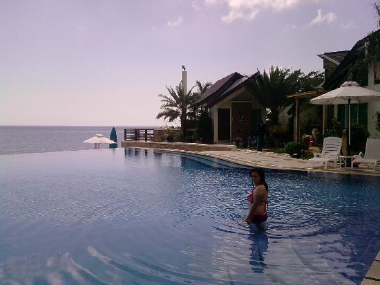 The Infinity Pool Picture Of Acuatico Beach Resort Hotel Laiya Tripadvisor