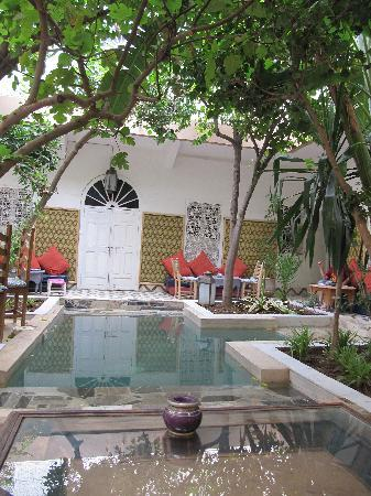 Riad So Cheap So Chic: Terrace where meals are served
