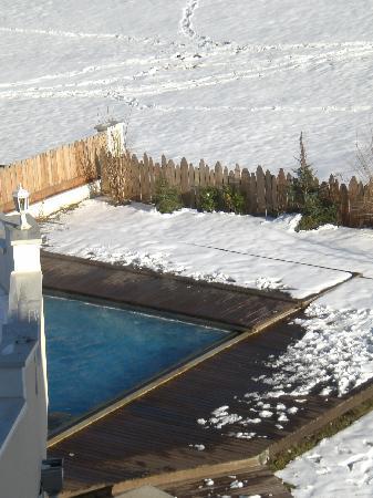 Alphotel Tyrol: la piscina che da all'esterno