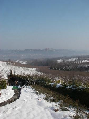 Bricco dei Cogni: View from the front door over the valley