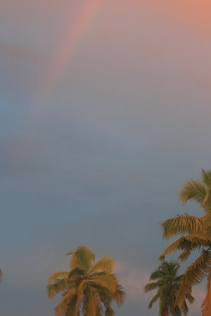 Desroches Island: Rainbows and sunsets