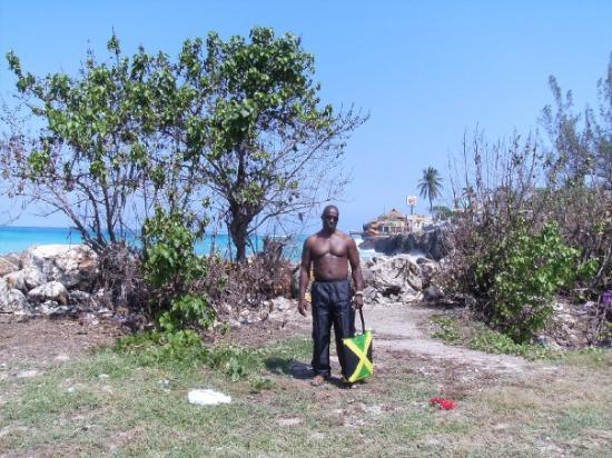 Montego Bay Marine Park : You can take the boy out of the country, but you can't take the country out of the boy!! lol