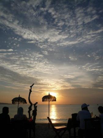 The famous Jimbaran Bay Sunset.