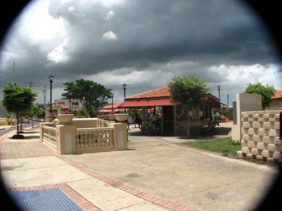 Aguadilla, Puerto Rico: clouds coming over Parterre (underwater river at a park)