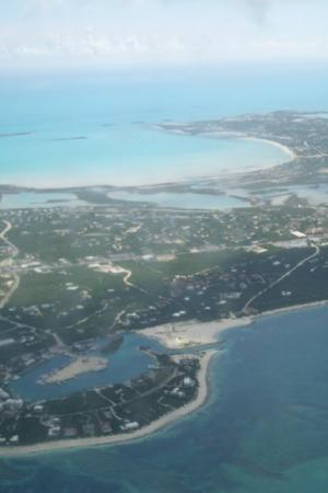 Providenciales: View from the plane leaving the Island