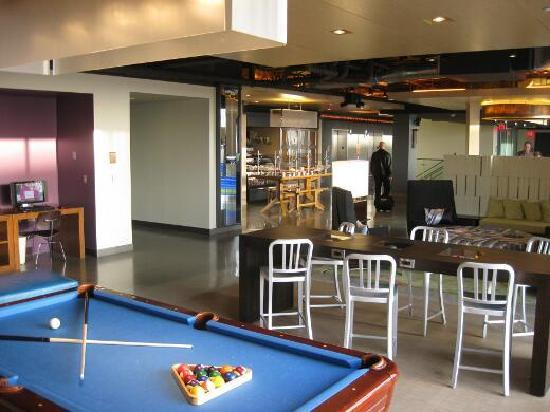 Pool Table And More Seating In The Lobby Picture Of Aloft Leawood - Pool table seating