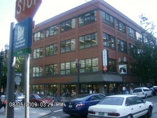 Powell's City of Books on NW Couch Street and NW 11th Avenue....