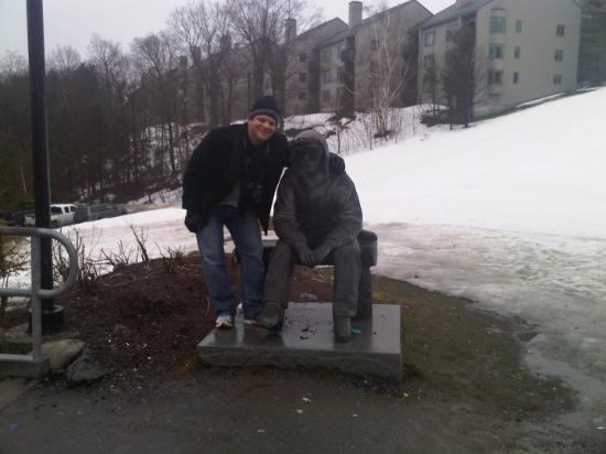 Warren, VT: Yo con el pana que tiene frio !!!