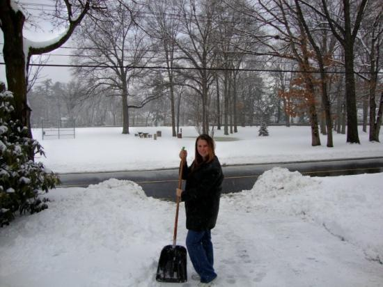 Madison, NJ: Shoveling snow, first time ever!!!