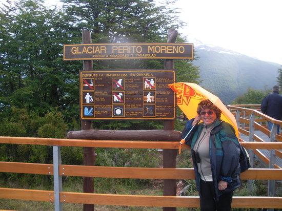 El Calafate, Argentina: sulla passerella